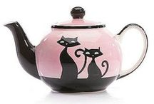 TEA TIME - THEN & NOW / Teacups...Teapots...Tea Caddies / by Ginny Robertson LLC