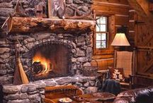 Cabin Fireplaces, Wood Stoves and Fire Pits / All things to keep you toasty warm