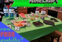 Minecraft Printables & Party / Everything you need to throw an awesome Minecraft party, including the printables! / by Being Fibro Mom