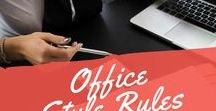 Office Style Rules / Office styles for women, sheath dress, cruiser dress, wrap dress.
