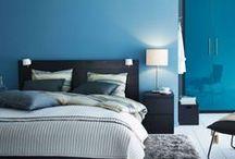 Interiores azules / Pintura y decoración de interiores en tonos azules