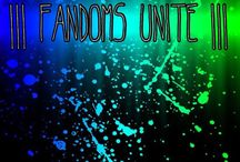 |||Fandoms unite||| / Post anything from any fandoms! I won't be on enough to add people, so ADD YOUR FRIENDS and comment on a pin to hopefully be added!