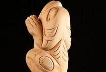 West Coast Native Sculpture / Unique sculpture by West Coast Native artists.