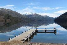invierno en lago hermoso y lago falkner
