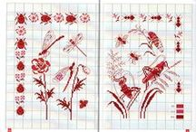 Cross-stitched - Redwork & monochrome