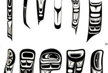 West Coast Native Art Design Elements / The design elements used in the unique style of art by West Coast Native Indians.