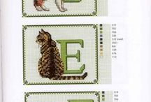 Cross-stitched - ABC / Cross stitch alphabets