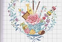 Cross-stitched: Hearts