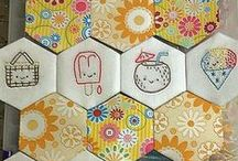 Hexagon & cirle embroidery patterns / for my next project...