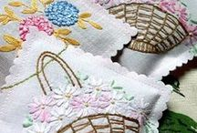 Vintage style embroidery patterns