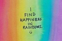 Rainbows / Rainbows.  The real things, or things made to look like them.  Wonderful multicoloured miracles that remind us that the most beautiful things if life are rarely seen in black and white.