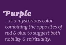 Perfect Purple / All things Purple!  From palest lilac to deepest darkest purple/black and everything in between.