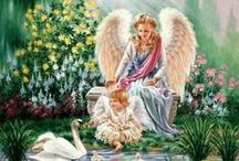Angels and Innocence / The sweet and innocent side of fantasy art.  Children, babies, cute animals, pure white unicorns and angels that are more fluffy than sexy.