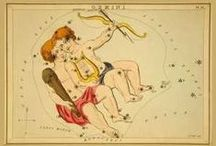 Celestial maps and astrology / Antique and vintage illustrations to do with the stars, constellations, heavens and zodiac