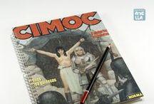 Libretas hechas con comics · Notebooks made using old comic pages / Libretas hechas a mano reciclando viejos comics.