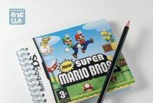 Libretas hechas con videojuegos / Libretas hechas a mano reciclando las cajas, carátulas y cuadernillos de instrucciones de videojuegos.