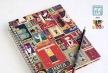Libretas exclusivas Lycka / Serie de libretas realizadas a mano, en exclusiva para la tienda de regalos Lycka, en Granada.