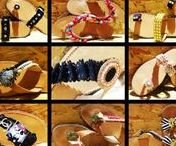 Handmade decorated sandals / Sandals
