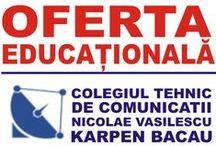 oferta.ctcnvk.ro / Descoperă oferta educațională ~ Colegiul Tehnic de Comunicații Nicolae Vasilescu-Karpen Bacău