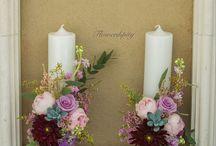 Flowerdipity candles / Lumanari cununie si botez