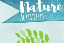 Nature Activities for Kids / Nature activities for kids, including nature walks, scavenger hunts, and nature art and crafts. Toddlers, preschoolers, and elementary aged children will love these fun, outdoor, lesson ideas.