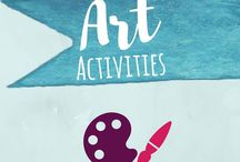 Arts and Crafts for Kids / Art activities for toddlers and preschoolers. Especially those that include science, and/or hands on sensory experience, like process art or projects that extend children's literature.