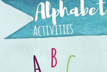 Alphabet Activities for Toddlers and Preschoolers / ABC alphabet activities for toddlers and preschoolers and kindergarten who are learning letters, including art, motor, and connections to science, alphabetical order, writing, phonics, and more