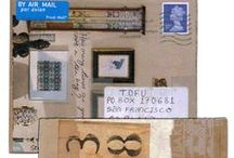 Mail Art, Postage Stamps and Stamp Art / Postage stamps I like and art made with postage stamps as well as other mail art and snail mail.
