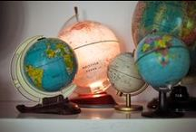 Favorite Global Places  / Globes are so cool! And they are a great visual about the planet!