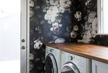MUDROOM & LAUNDRY / Mudroom and laundry room design ideas & inspiration with the elegant, eclectic and essentialist look I love. See my own home & client design work here >> bit.ly/2mOd9wQ