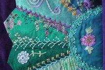 Beautiful Crazy Quilts / Quilting & embroidery ~ a great combo!