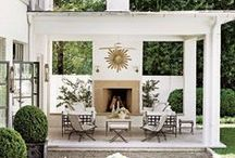 PORCH & PATIO / Outdoor living spaces, porch and patio design ideas & inspiration with the elegant, eclectic and essentialist look I love. See my own home & client design work here >> bit.ly/2mOd9wQ