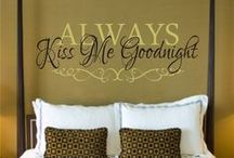 For the Home ~ Bedrooms / We spend a third of our day in the bedroom ~ let's make it a special place!