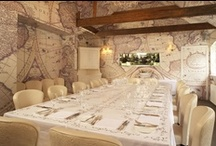 Chef's Dining Room / With stunning antique maps and wooden beams, the private dining room is a destination in itself.