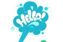 Hello bank! x Curioos / Pour célébrer la création numérique, Hello bank! a mandaté le collectif Curioos pour faire travailler des artistes autour du mot « Hello ».  http://hellobank.tumblr.com/
