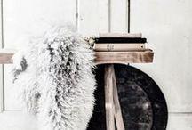 [ flokati fabulous ] / flokati | sheepskin | fox fur | faux fur | sometimes resting on tolix