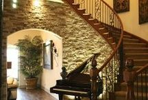 Stunning stairways! / Add interest, color and texture to stairways with easy-to-install AirStone veneer.