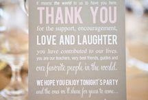 Wedding Signs / Hochzeit Texte