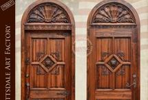 Hand Crafted Doors / Custom Doors - solid wood doors, iron grills, speakeasies, portals and glass window doors. Any style, design, and finish available. Create your custom entrance door, interior or exterior door in any size to fit your home, garage, or castle. All hand made in America by master craftsman and guaranteed forever