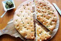 Vegetarian pizzas & focaccias