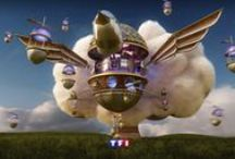 TF1 France PUB Bumpers / CG animations that are whimsical and detailed for broadcast network TF1 France