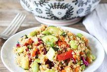 Veg. recipes with quinoa & mijo