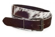 Cowhide Accessories / Add some panache to an outfit with a stylish leather, Zulucow accessory.