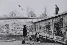 Mauer - The Berlin Wall / After the end of World War II in Europe, what remained of pre-war Germany west of the Oder-Neisse line was divided into four occupation zones (as per the Potsdam Agreement), each one controlled by one of the four occupying Allied powers: the United States, the United Kingdom, France and the Soviet Union. The capital of Berlin, as the seat of the Allied Control Council, was similarly subdivided into four sectors despite the city's location fully within the Soviet zone.  / by Motomu Hatanaka