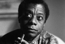 James Baldwin / James Arthur Baldwin (1924 –1987) was an American novelist, essayist, playwright, poet, and social critic. His essays, as collected in Notes of a Native Son (1955), explore palpable yet unspoken intricacies of racial, sexual, and class distinctions in Western societies, most notably in mid-20th-century America, and their inevitable if unnameable tensions.[1] Some Baldwin essays are book-length, for instance The Fire Next Time (1963), No Name in the Street (1972), and The Devil Finds Work (1976). / by Motomu Hatanaka