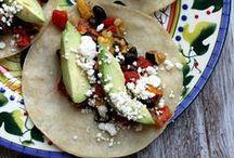 Vegetarian tacos & quesadillas