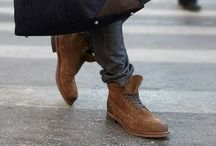 Mens Fashion / My Style, Rough leather half - high shoes,  Scarfes, casual Style, all things i love  / by Simon Griep