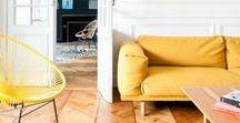 Interior in Yellow / Gelb ist ein wahrer Muntermacher und bringt in Form von Möbeln, Textilien und Accessoires automatisch gute Laune in unsere vier Wände.
