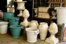 Custom Colored Pottery / A collection of custom finished and colored pottery. Eye of the Day specializes in custom services including finishes, glazing, antique treatments, and colors.  https://www.eyeofthedaygdc.com/services/
