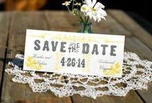 Letterpress Announcements / Save-the-date wedding announcements, new baby announcements